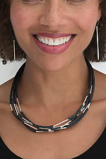 Tubular Harmony Jewelry by Dagmara Costello (Silver & Rubber Jewelry)