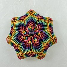 Kaleidoscope No. 62 by Joh Ricci (Fiber Brooch)