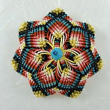 Kaleidoscope No. 72 by Joh Ricci (Fiber Brooch)