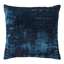 Brush Stroke Velvet Pillow by Kevin O'Brien (Silk Velvet Pillow)