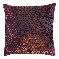 Triangles Velvet Pillow by Kevin O'Brien (Silk Velvet Pillow)