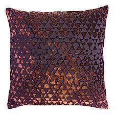 Triangles Velvet Pillow by Kevin O'Brien (Silk Velvet Pillow)