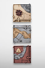 Aeolus Triptych by Christopher Gryder (Ceramic Wall Sculpture)