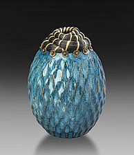 Woo Blue Vessel by Valerie Seaberg (Ceramic Vessel)