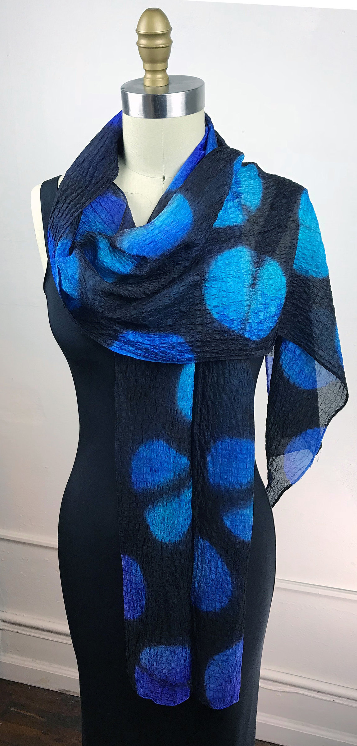 Silk Bubble Shibori Scarf