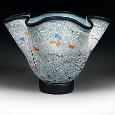 Misty Mountain by Eric Bladholm (Art Glass Vessel)