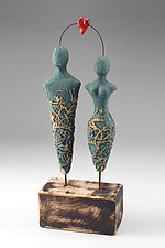 One Love (Man + Woman) by Cathy Broski (Ceramic Sculpture)