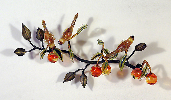 Branch with Birds and Fruit