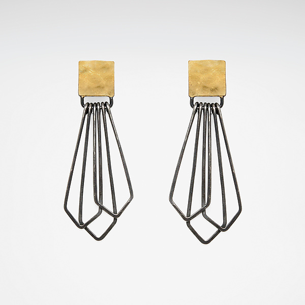H/G Square Drop Earrings