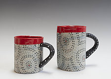 Gray Washed Circle Mug by Vaughan Nelson (Ceramic Mug)