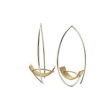 Tension Hoops by Hilary Hachey (Gold & Silver Earrings)