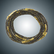 Spinel Wrap Bracelet/Necklace by Judy Bliss (Gold & Stone Jewelry)