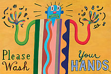 Please Wash Your Hands III by Hal Mayforth (Giclee Print)