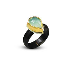 Smoke on the Water Ring by Nancy Troske (Gold, Silver & Stone Ring)