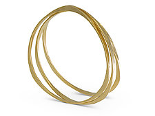 Splash Bangle in Vermeil by Ayesha Mayadas (Gold Bracelet)