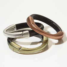 Crescent Moon Bracelet Set by Erica Zap (Leather & Metal Bracelets)