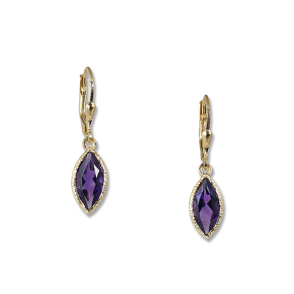 Gold Amethyst Marquise Earrings By Suzanne Q Evon Stone Artful Home
