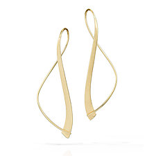 14K Forged Path Earrings by Susan Panciera (Gold Earrings)