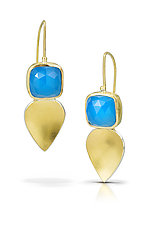 Petal Drop Earrings by Thea Izzi (Gold & Stone Earrings)