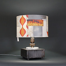 Sundown, Sundown by James Aarons (Mixed-Media Table Lamp)