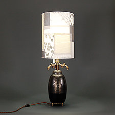King Volcano by James Aarons (Mixed-Media Table Lamp)