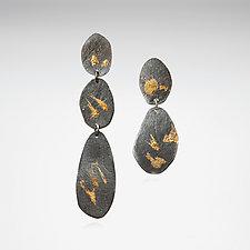 Mirage Earring No. 3 by Nina Mann (Gold & Silver Earrings)