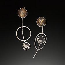 Mobile Earrings by Nina Mann (Gold, Silver & Stone Earrings)