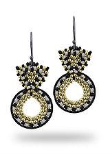 Art Deco Earrings by Sheila Fernekes (Glass Bead Earrings)