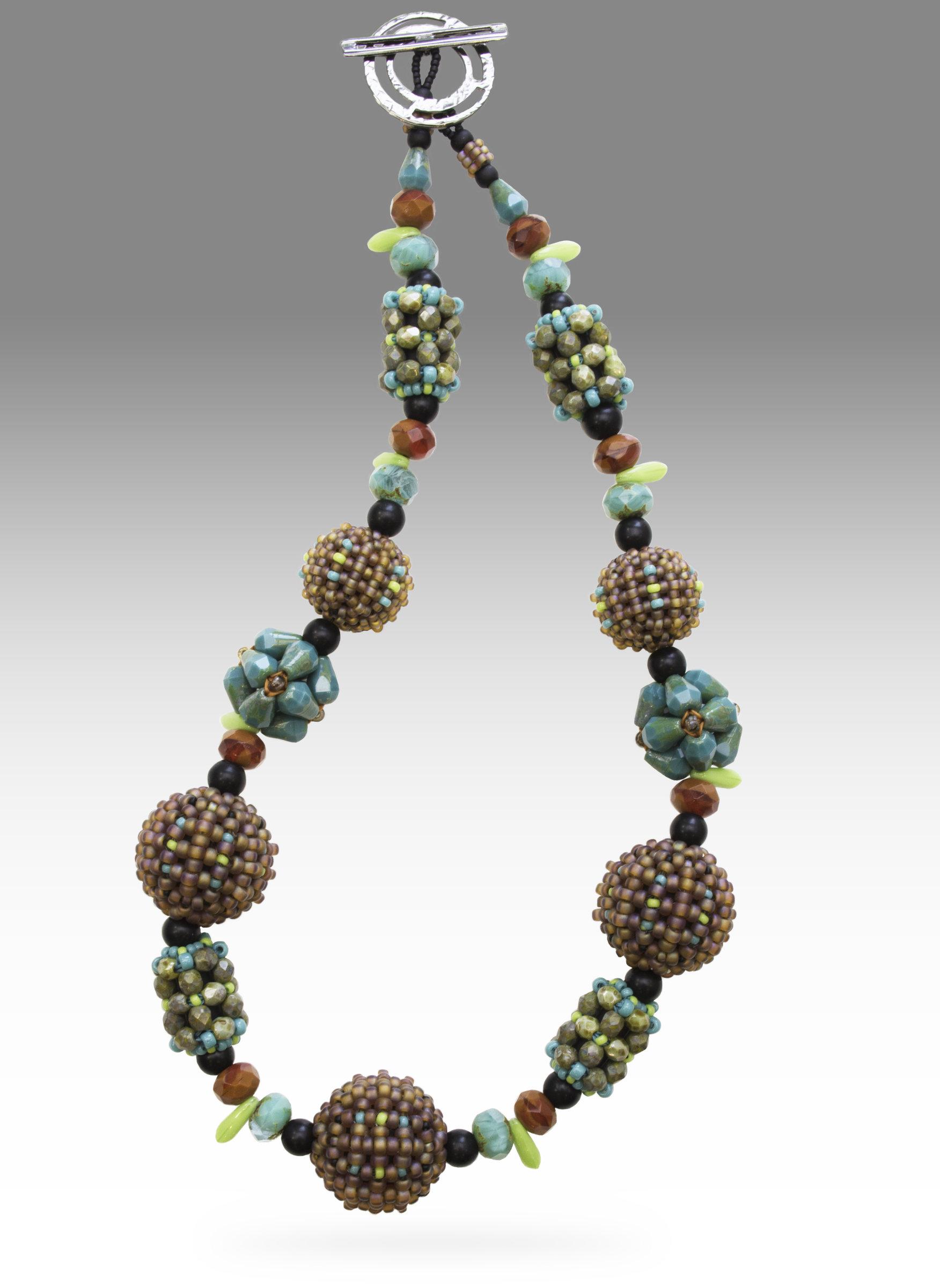 Santa Fe Orb Necklace By Sheila Fernekes Glass Bead