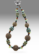 Santa Fe Orb Necklace by Sheila Fernekes (Glass Bead Necklace)