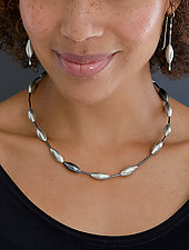 Single Cone Necklace by Laurette O'Neil (Silver Necklace)