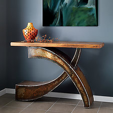 Curve Console by Ben Gatski and Kate Gatski (Metal Console Table)