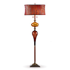 Esteban by Susan Kinzig and Caryn Kinzig (Mixed-Media Floor Lamp)