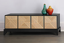 Crosshatch Lowboy by Kevin Irvin (Wood Cabinet)