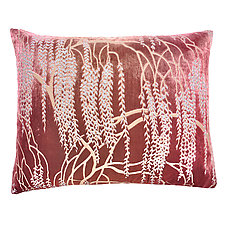 Desert Rose Metallic Willow Velvet Pillow - Rectangular by Kevin O'Brien (Velvet Pillow)