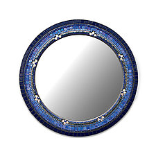 Iris Flower Mirror by Angie Heinrich (Mosaic Mirror)
