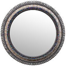 Pewter Drop Mirror by Angie Heinrich (Mosaic Mirror)