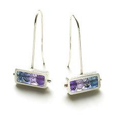 Horizontal Rectangle Earrings by Ashka Dymel (Silver & Stone Earrings)
