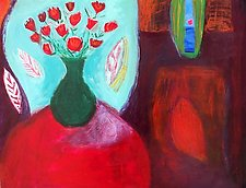 Bouquet with Red Leaf by Heidi Daub (Acrylic Painting)