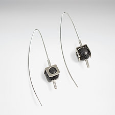 Housed Lava Earrings by Laurette O'Neil (Silver & Stone Earring)