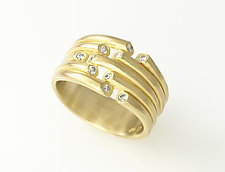 Whisper Ring by Ayesha Mayadas (Gold & Stone Ring)