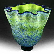 Ljetna Polya (Summer Field) Studio Sample by Eric Bladholm (Art Glass Vase)
