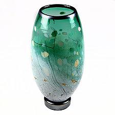 Evening Emerald Studio Sample by Eric Bladholm (Art Glass Vase)