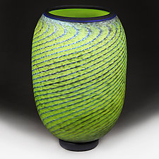 Emerald Evolution Prototype Vase by Eric Bladholm (Art Glass Vessel)