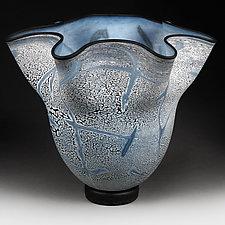 Sapphire Spectrum (Studio Sample) by Eric Bladholm (Art Glass Vase)