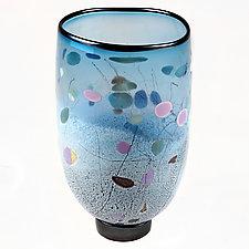 Sea & Sky Studio Sample by Eric Bladholm (Art Glass Vase)
