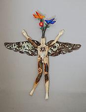 Tree of Life Angel by Elizabeth Frank (Wood Wall Sculpture)