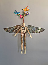 Tree of Life Angel by Elizabeth Frank (Wood Wall Art)