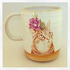 Push Push's Darling Tabby Cat Mug by Chris Hudson and Shelly  Hail (Ceramic Mug)