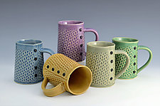 Knitted Mugs by Charan Sachar (Ceramic Mug)
